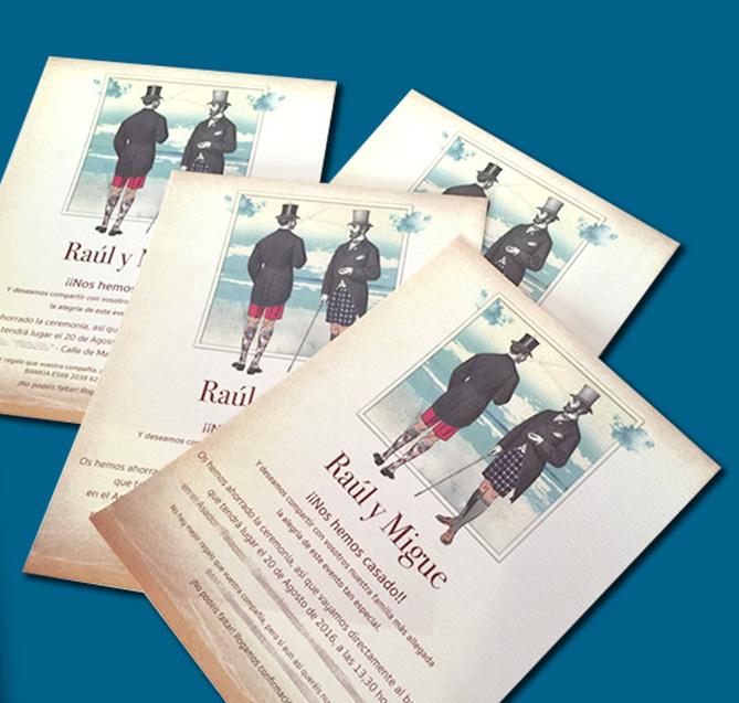 Vera Atelier invitaciones personalizadas.